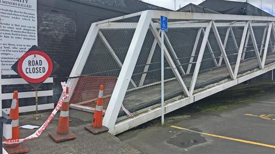 Huntly footbridge is closed until further notice