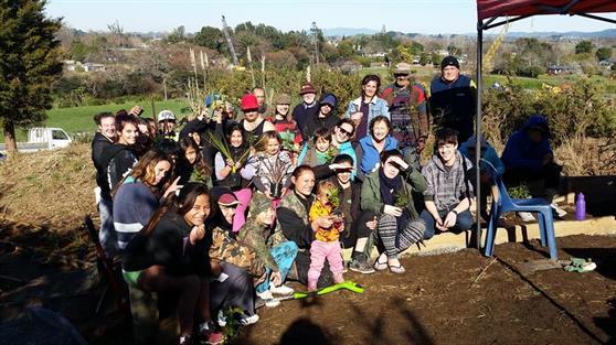 Taupiri community planting day