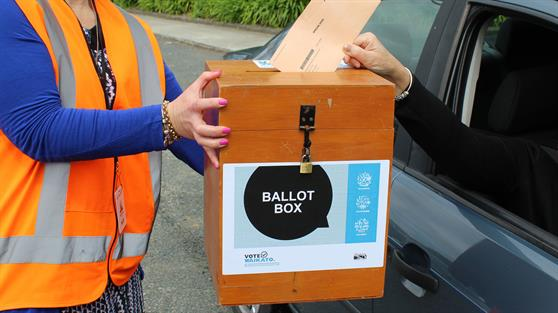 Mobile ballot box