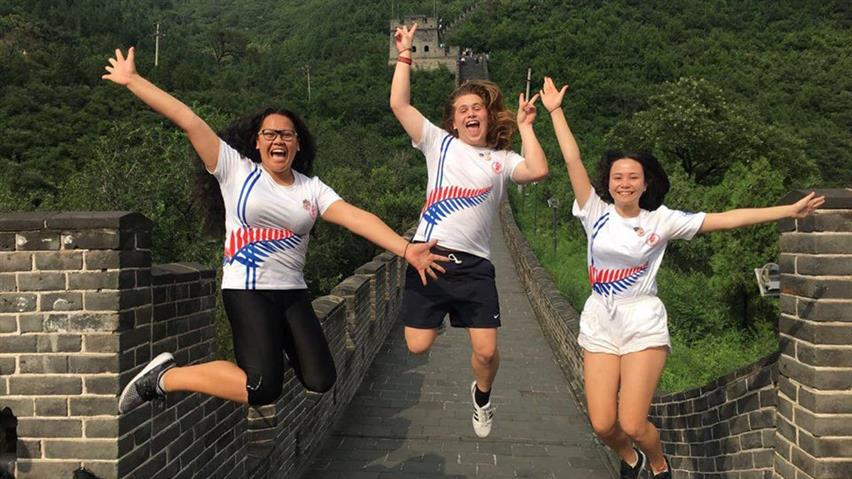 China - The Great Wall - Marina Wihongi, Caleb Monk and Tuene Henderson