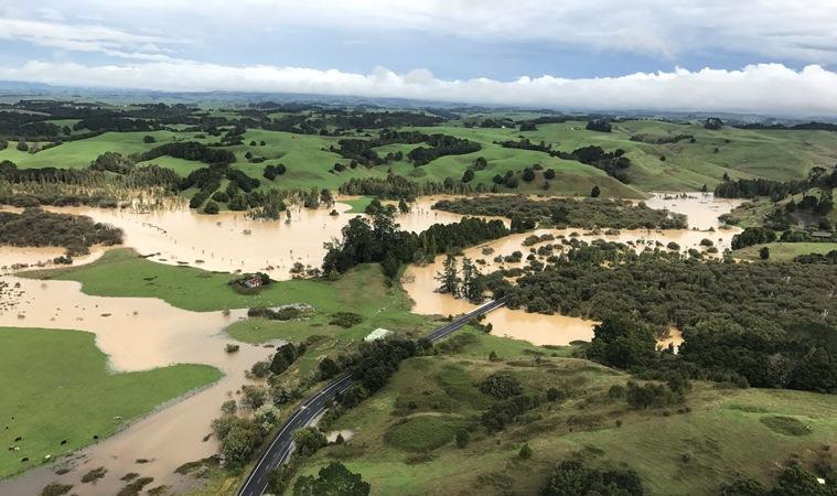 Flooding and slips in the Waikato
