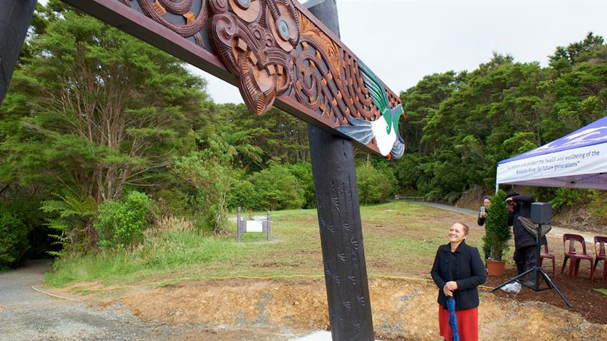 Tomokanga unveiled at base of Hakarimata Track