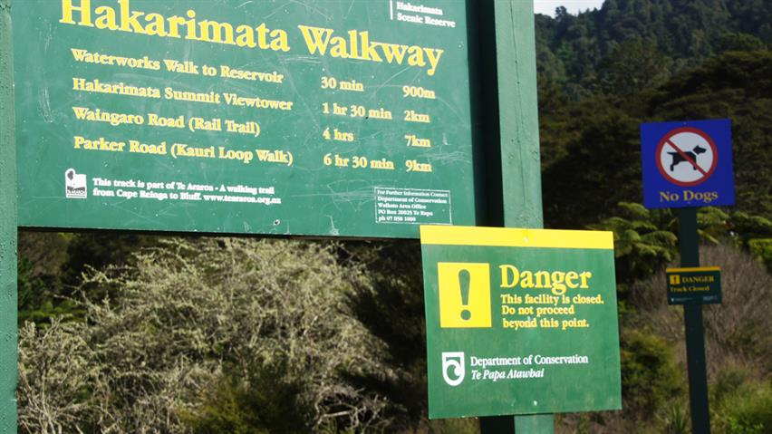 Hakarimata Summit Track is closed