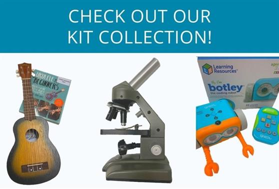Some of the kits available to hire at our libraries