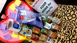 Cans donated during love your library week