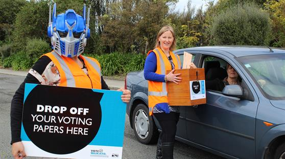 Voting takes to the streets around the Waikato