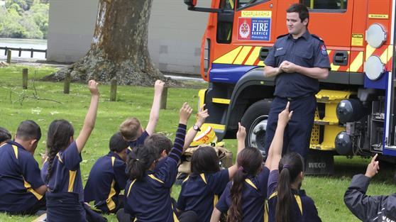School children at a previous Ngaruawahia Safe Kids Day