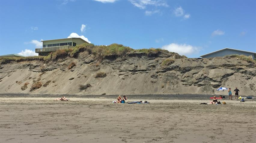Port Waikato beach erosion