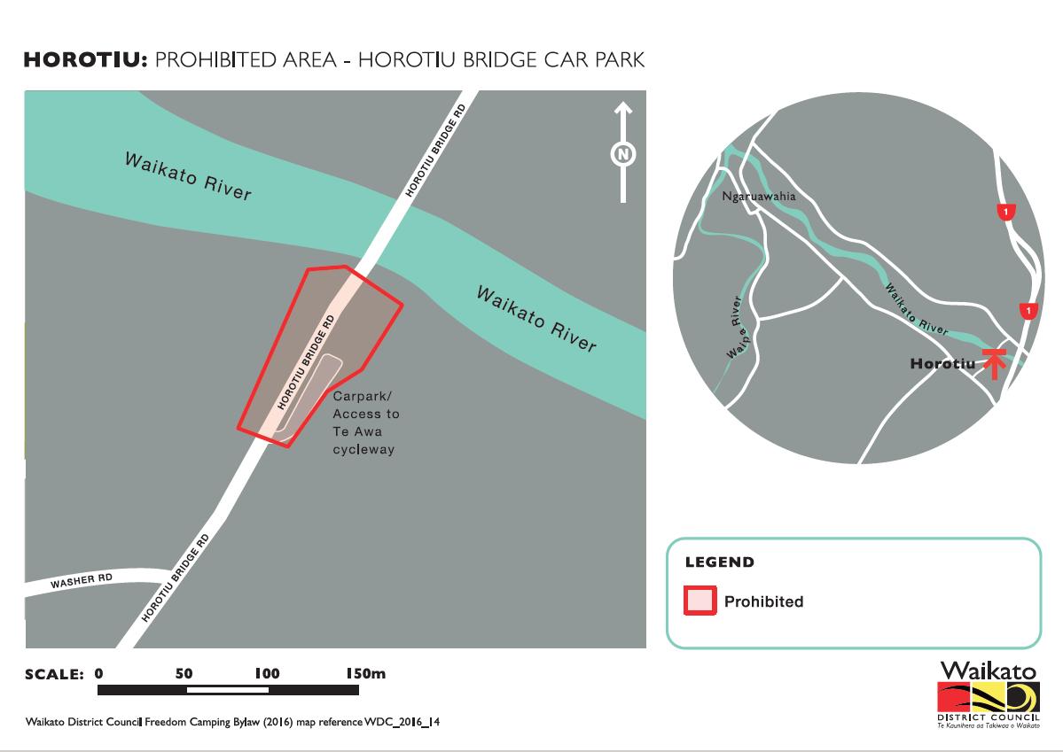 Horotiu Bridge carpark camping