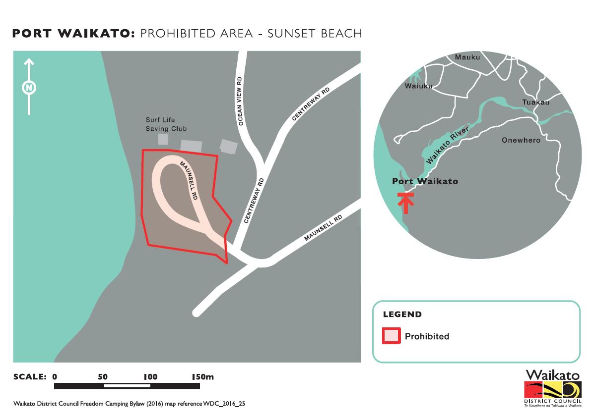 Port Waikato Sunset Beach camping
