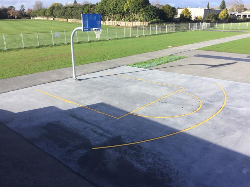Tamahere Playground basketball half court
