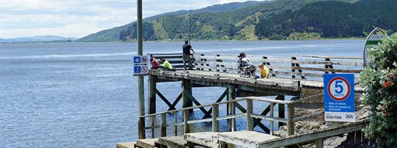 Port Waikato council maintained boat ramp