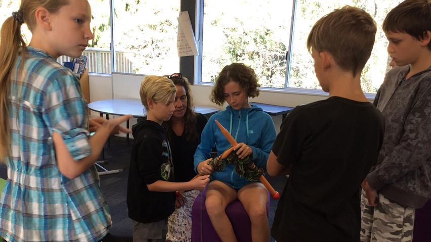 Giant Knitting Te Uku School cropped