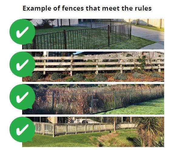 Fences on Reserves - approved fences