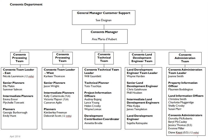 Consents Operational Team Structure