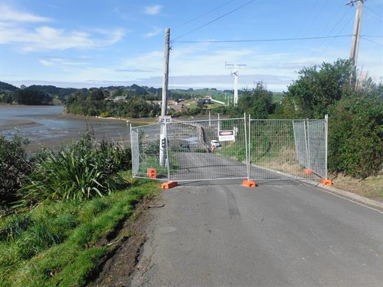 New bridge in Raglan before construction started