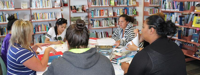 Adult study group at Ngaruawahia Library
