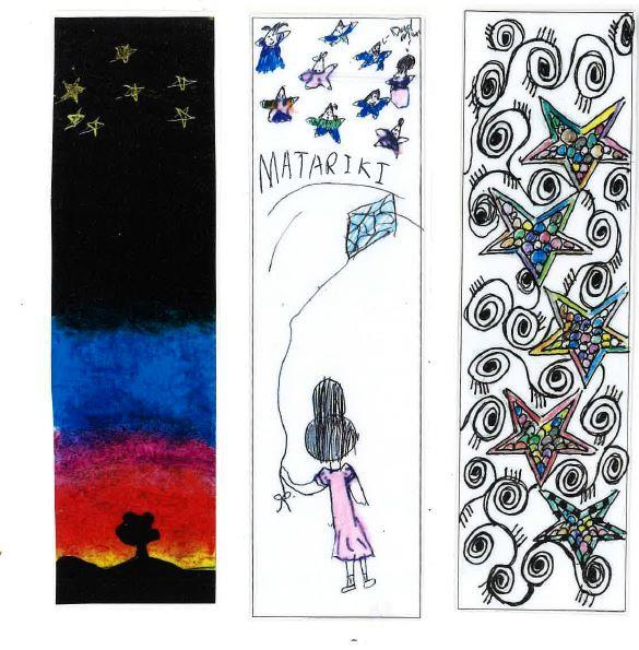 winning bookmarks by Abbey Piper, Gracie Ranson,  Jory Morante
