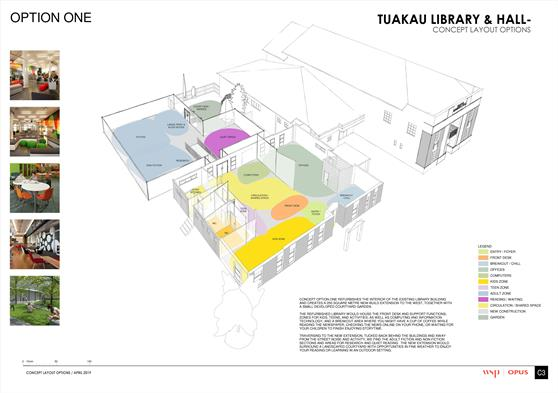Tuakau Library Refurbishment - Option 1