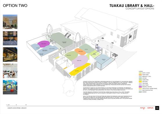 Tuakau Library Refurbishment - Option 2