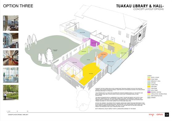 Tuakau Library Refurbishment - Option 3