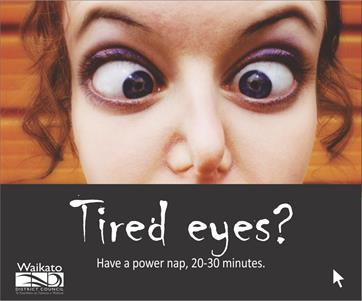 Road safety campaign - Tired eyes