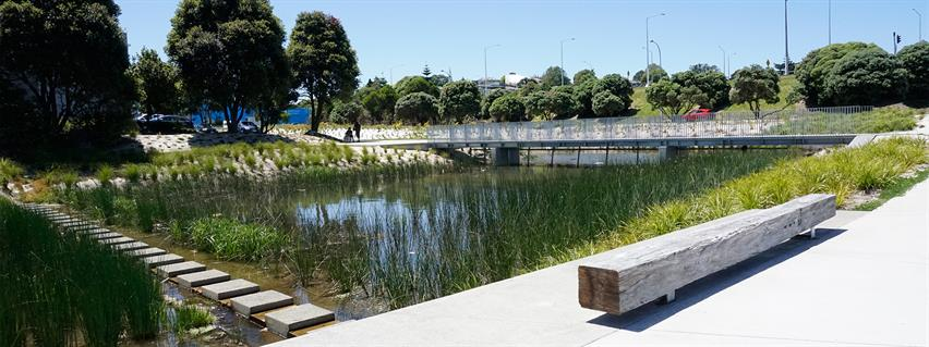 Example of a stormwater wetland. Supplied/ Boffa Miskell