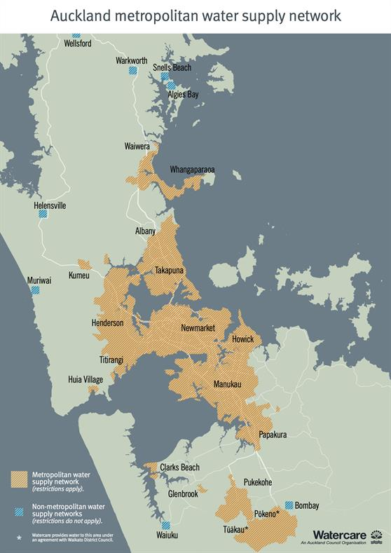 Watercare metro supply map