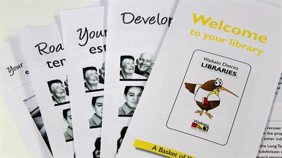 Waikato District Council information fliers