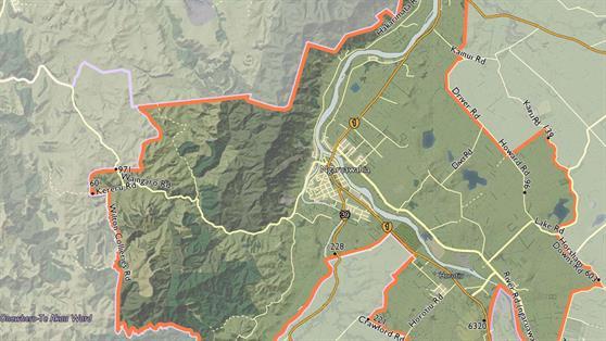 Waikato District ward maps